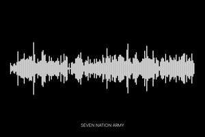 Seven Nation Army by The White Stripes Soundwave Poster