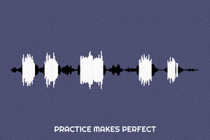 Practice Makes Perfect Waveform Print