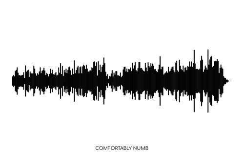 Comfortably Numb by Pink Floyd Soundwave Poster