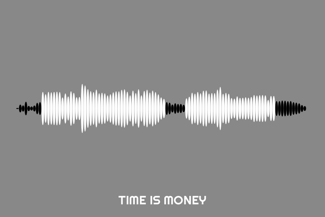 Time Is Money Waveform Print
