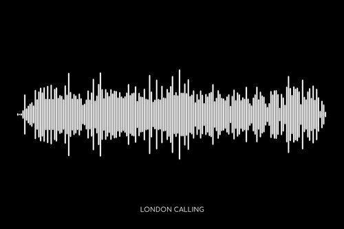 London Calling by The Clash Soundwave Poster
