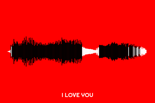 I Love You Waveform Print