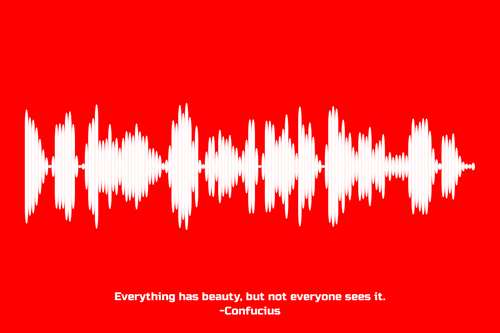 Confucius Quote Waveform Print