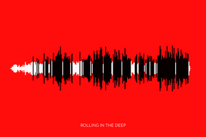 Rolling In The Deep by Adele Soundwave Poster