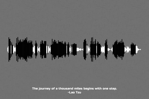 Lao Tzu Quote Waveform Print