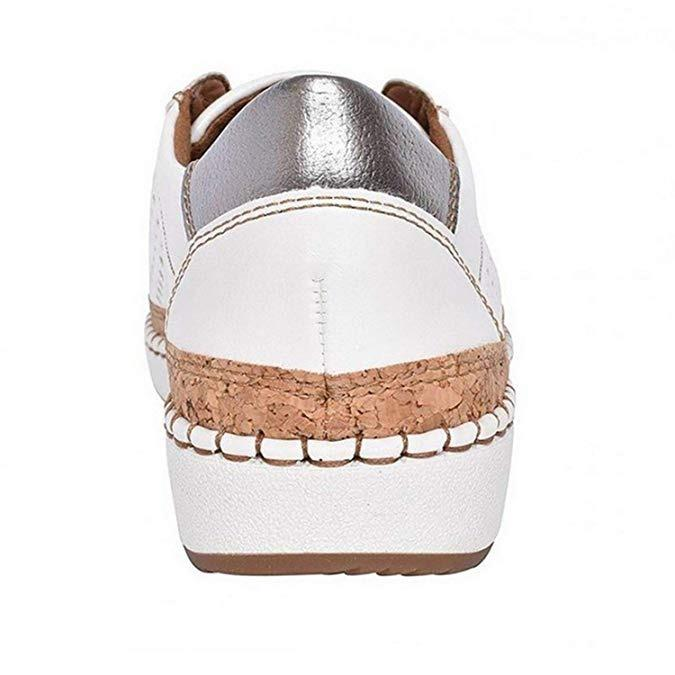 Hollow-Out Round Toe Women Casual Sneakers