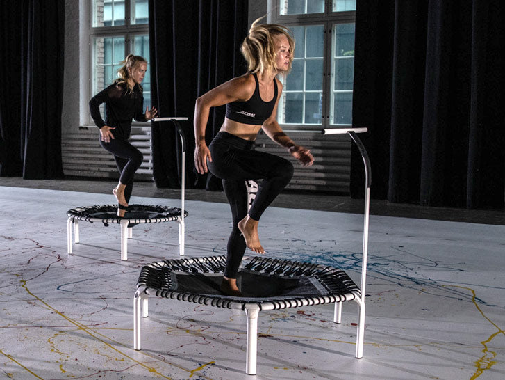 Round and hexagonal Fitness Trampolines