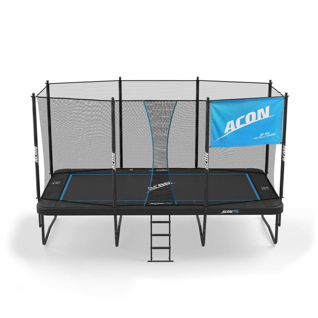 ACON HD trampoline with the ACON flag