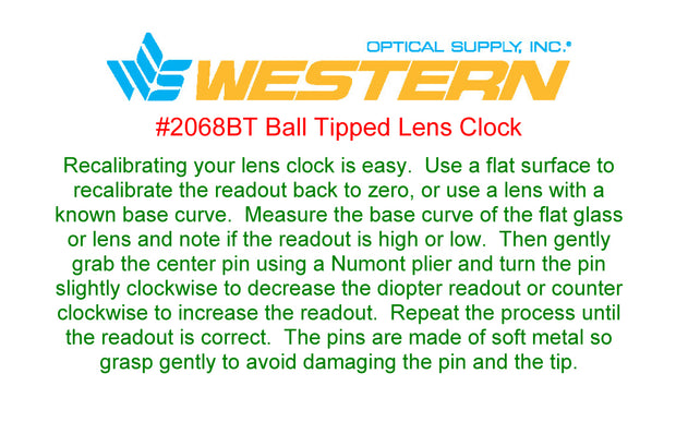Ball Tipped Lens Clock #2068BT