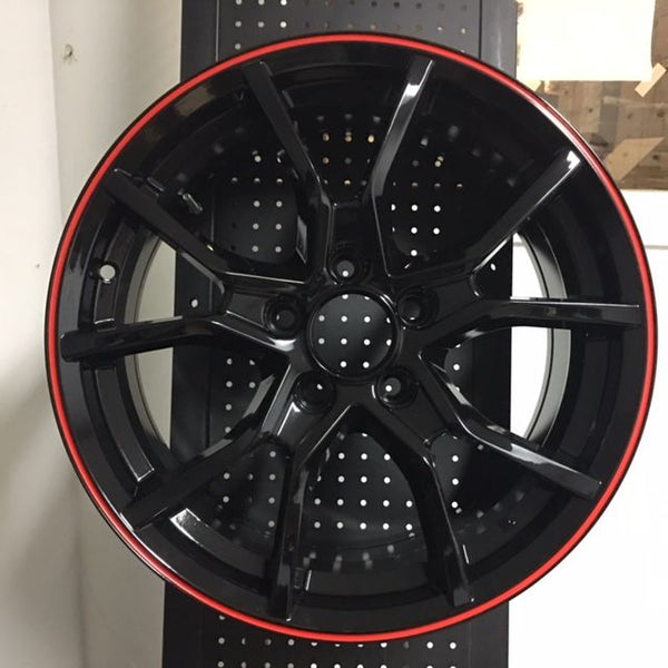 "18"" New 2020 FK8 Type R Style Fits Honda Civic SI Gloss Black Alloy Wheels"