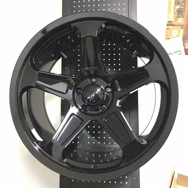 "22"" Demom SRT Style Gloss Black Wheels Rims Fits Dodge Charger Challenger"