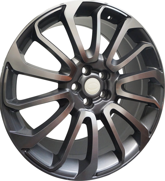24 Inch Rims Range Rover Autobiography Style Sport LR3 LR4 & HSE Wheels Gunmetal Machined Face
