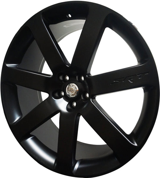 22 INCH RIMS FIT DODGE CHARGER CHALLENGER HEMI SRT MATTE BLACK WHEELS