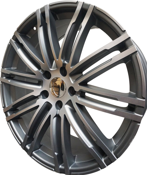 22 Inch Rims Fits Porsche Cayenne Models GTS Turbo Base Wheels