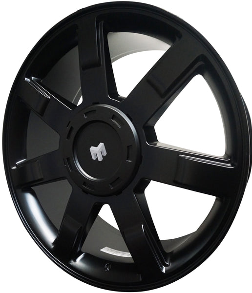 22 INCH CADILLAC BLACK RIMS FITS ESCALADE EXT ESV BRAND NEW WHEELS 7 SPOKE