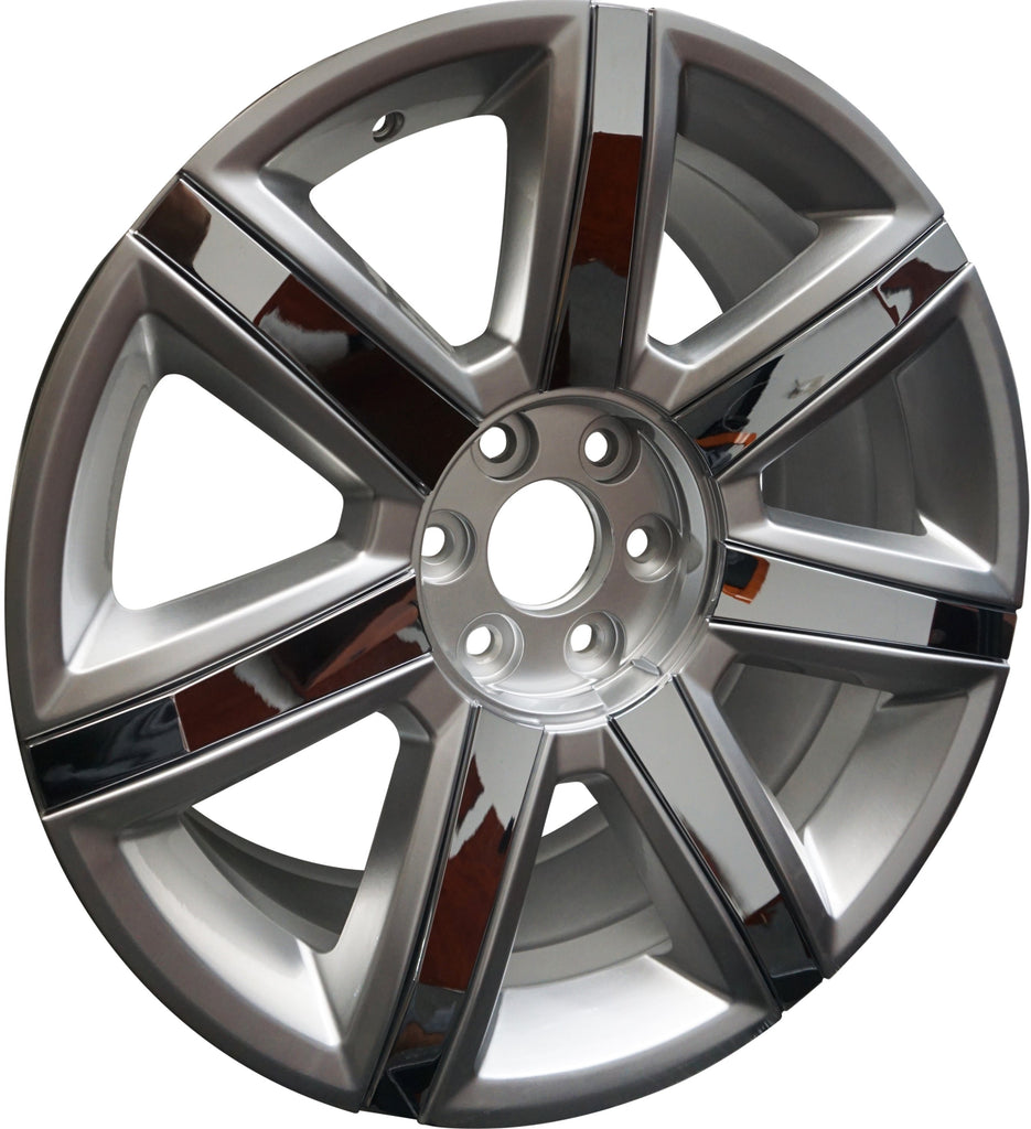 """22"""" CADILLAC SILVER WITH CHROME INSERTS RIMS FITS ESCALADE"""