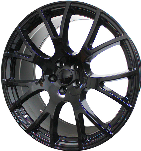 22 Inch Dodge Wheels Charger Challenger Magnum Hellcat SRT Gloss Black Rims