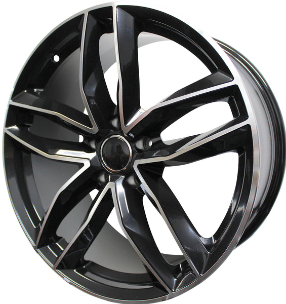 17 inch wheels Audi A3 A4 A5 S3 S4 S5 Black Machined rims