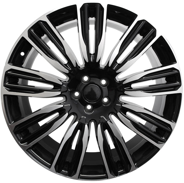 22 Inch Rims Range Rover Autobiography Sport LR3 LR4 & HSE Wheels Black Machined Face