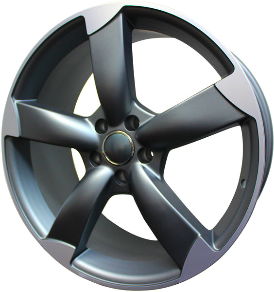 19 Inch Audi Rims A5 A6 A7 A8 S5 S6 S7 S8 RS5 RS6 RS7 Gunmetal Machined Tips Wheels