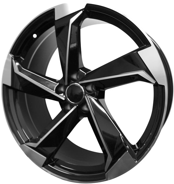 21 Inch Audi Rims A4 A5 A6 A7 A8 S4 S5 S6 S7 S8 RS5 RS6 RS7 Black Machined Wheels