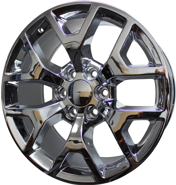 "24"" GMC/Chevy Tahoe Sierra Denali Wheels Silverado Suburban Yukon Chrome Finish Rims"