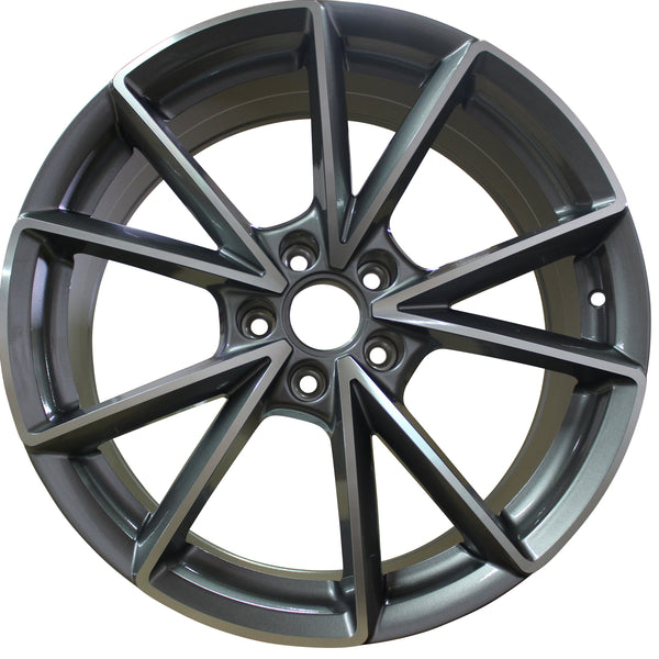 19 Inch Audi Rims A4 A5 A6 A7 A8 S4 S5 S6 S7 S8 RS5 RS6 RS7 Gunmetal Machined Wheels