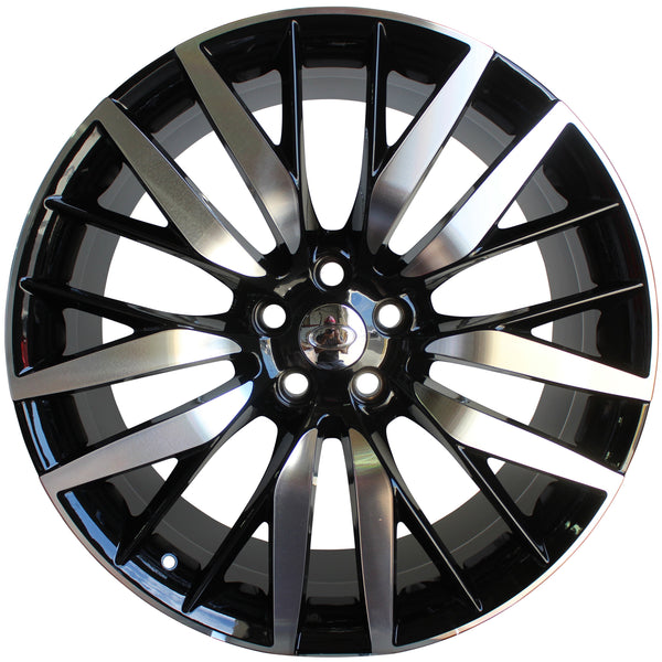 22 Inch Rims Range Rover Autobiography Style Sport LR3 LR4 & HSE Wheels Black Machined Face