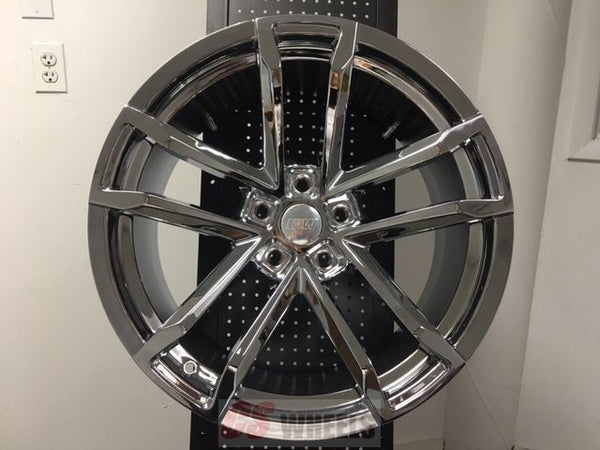 "20"" ZL1 MACH STYLE CHROME STAGGERED WHEELS RIMS FITS CHEVY CAMARO 2010-UP"