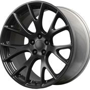 "20"" Hellcat SRT Style Matte Black Wheels Rims Fits Dodge Charger Challenger"