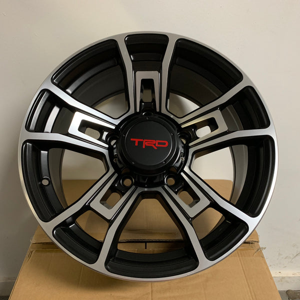 17 Inch Rims Fits Toyota Tundra TRD Style Rims Black Machined Finish