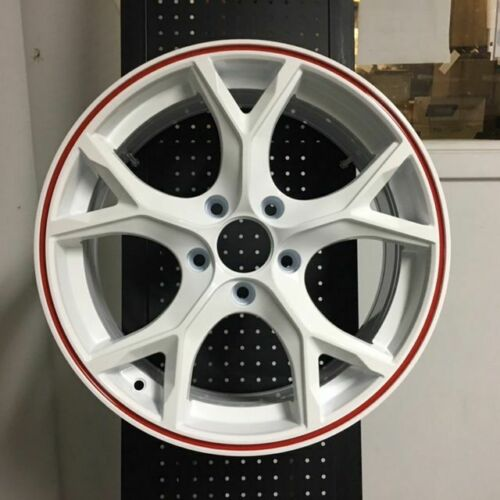 "18"" Type R Style Fits Honda Civic SI White Red Lip Alloy Wheels"