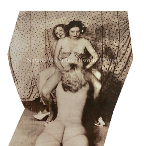 Remarkable 1930s Lesbian Nudes Sex Worker History Snapshot Photo