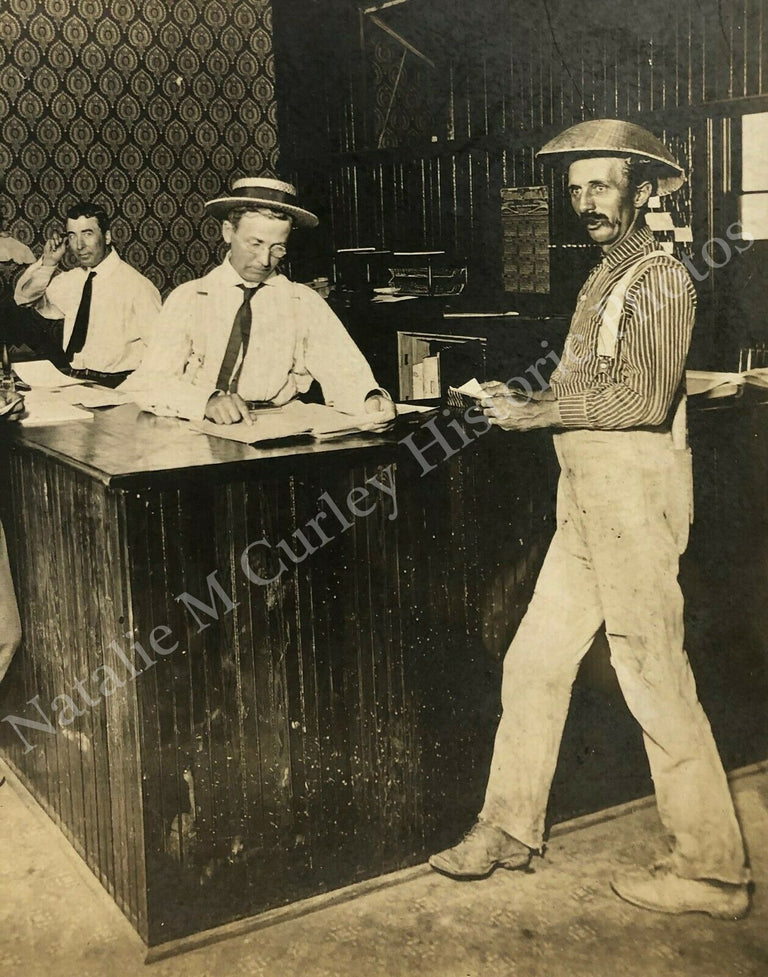 1910s Homesteaders Farm Land Claim Office Gold Rush Photo