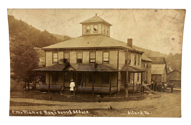 1910s PRR Railroad Town Boarding House Labor Photo RPPCs