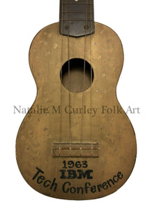 1963 Painted IBM Historical Technology Folk Art Uke