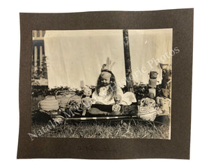 1910s Native American Pre Columbian Artifacts Victorian Child Photo