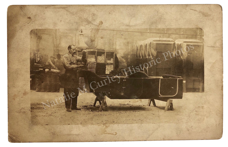 1913 Kenosha Wisconsin Auto Assembly Line RPPC Photo