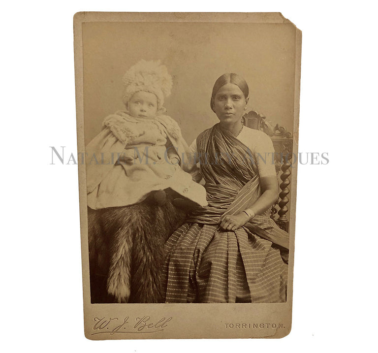 Victorian Child British Colonial India Nanny Cabinet Photo
