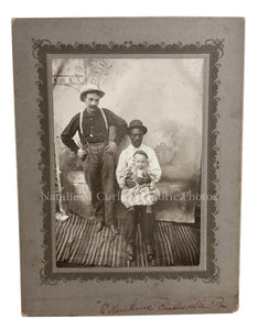1900s Integrated African American Caretaker Father Itinerant Photo