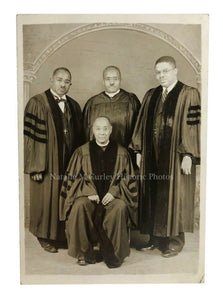 1940s African American College Professors Scholars Studio Photo
