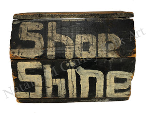 1920s Shoe Shine Box Folk Art SIGN