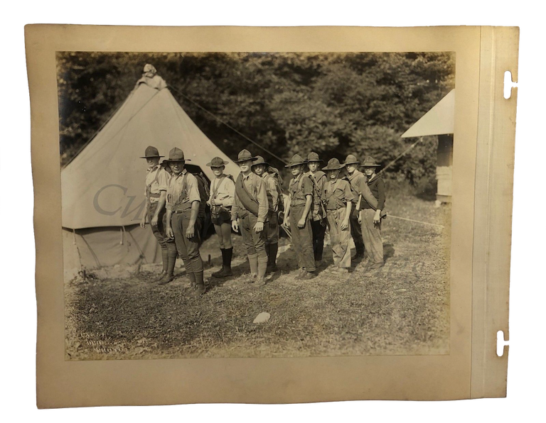 Vintage 1920s Boy Scouts BSA Carnegie Steel Photo Album Archive Quality