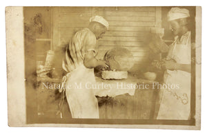 1910s Cake Make Do Porch Bakery Photo RPPC