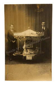 1920s German Toy Carousel Studio Photo RPPC
