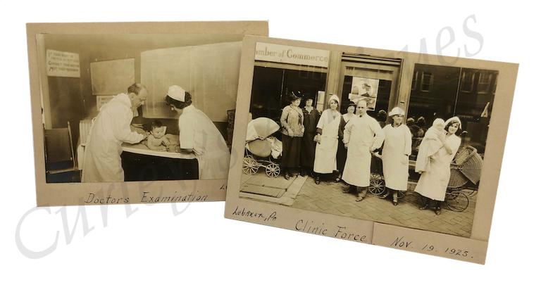 Vintage 1920s Newborn Children's Hospital Medical Clinic Doctor Nursing Photos