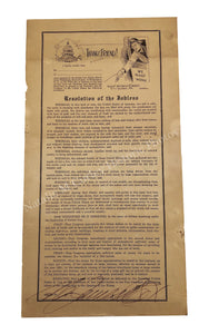 1932 Depression Era Labor Protest Cox's Army Jobless Party Broadside