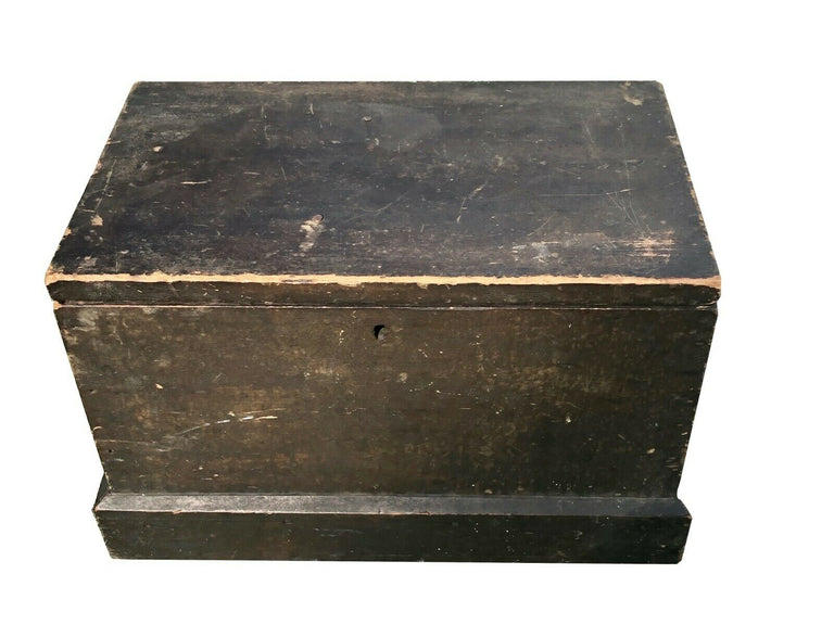 19thc American Miniature Dowry Chest Pennsylvania Square Nails Primitive