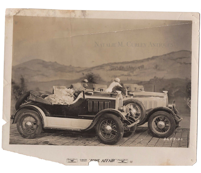 1930s Auto Racing Chickens Vaudeville Movie Still Photos