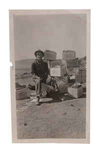 Dust Bowl Farmer Hercules Powder Dynamite Boxes Portrait Photo